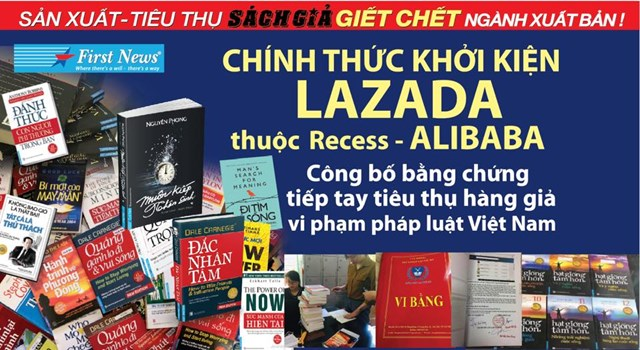 Sàn thương mại điện tử Lazada bị First News - Trí Việt khởi kiện vì bán sách giả
