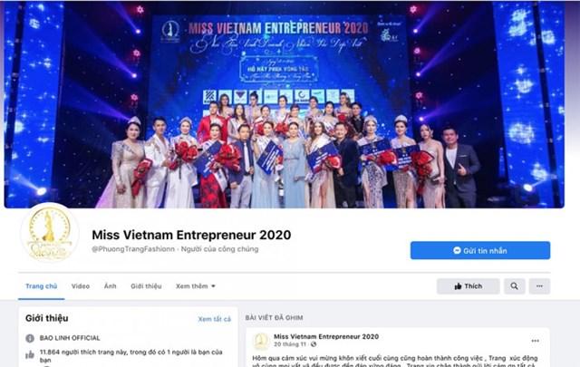 Fanpage quảng bá cho cuộc thi Hoa hậu Doanh nhân sắc đẹp Việt 2020.