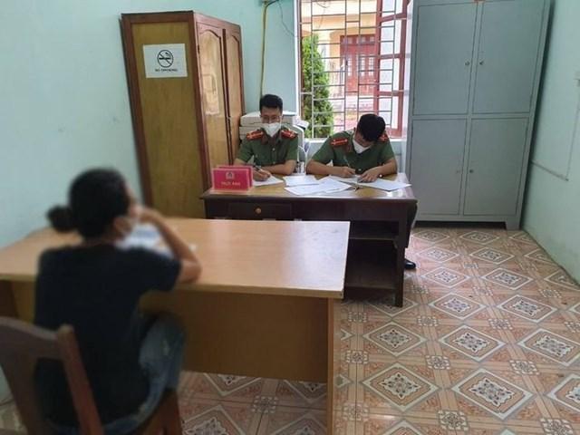 Bị phạt 2 triệu đồng, chị T. đã lên mạng nói xấu Công an huyện Như Thanh.