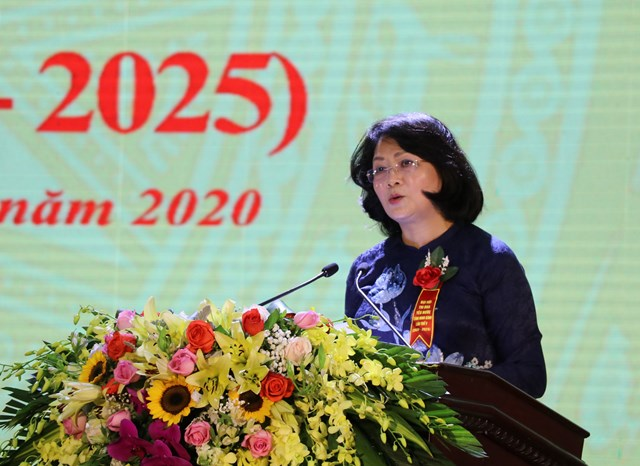 Phó Chủ tịch nước dự Đại hội thi đua yêu nước tỉnh Ninh Bình lần thứ V