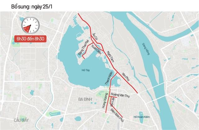 Bản đồ cấm đường phục vụ Đại hội Đảng - Ảnh 3