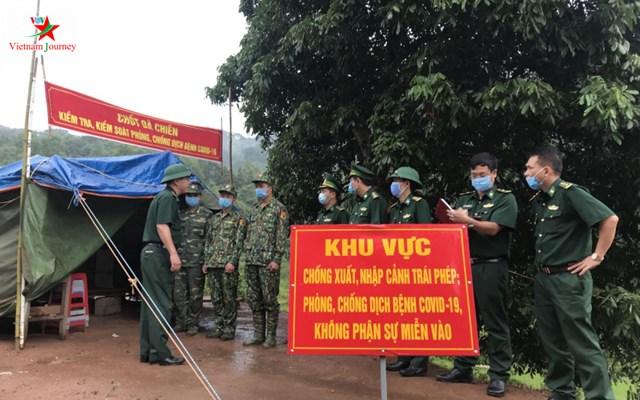 Một chốt dã chiến trên tuyến biên giới tỉnh Lạng Sơn. Ảnh: Duy Thái.