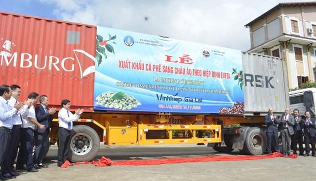 Ngày 16/9, Gia Lai xuất khẩu lô hàng cà phê và chanh dây đi châu Âu theo Hiệp định EVFTA.
