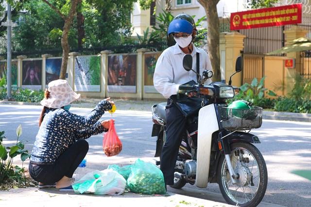 Khoảng từ giữa tháng 5, sấu đã được bày bán trên các con phố.