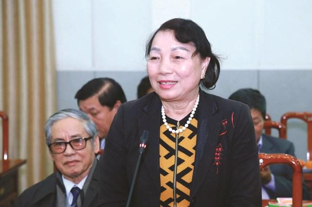 Bà Hà Thị Liên, nguyên Phó Chủ tịch UBTƯ MTTQ Việt Nam.