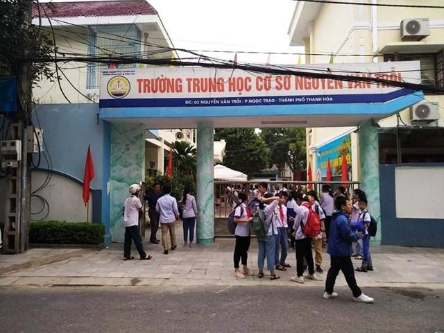 Trường THCS Nguyễn Văn Trỗi nơi em V và nhóm học sinh bạo hành V. đang theo học.