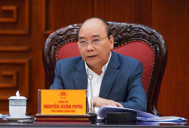 Thủ tướng Nguyễn Xuân Phúc phát biểu tại cuộc họp Thường trực Chính phủ,sáng ngày 25/11. Ảnh: VGP.