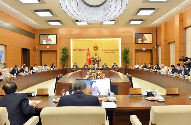 Phiên họp thứ 50 của Uỷ ban Thường vụ Quốc hội. Nguồn: quochoi.vn.
