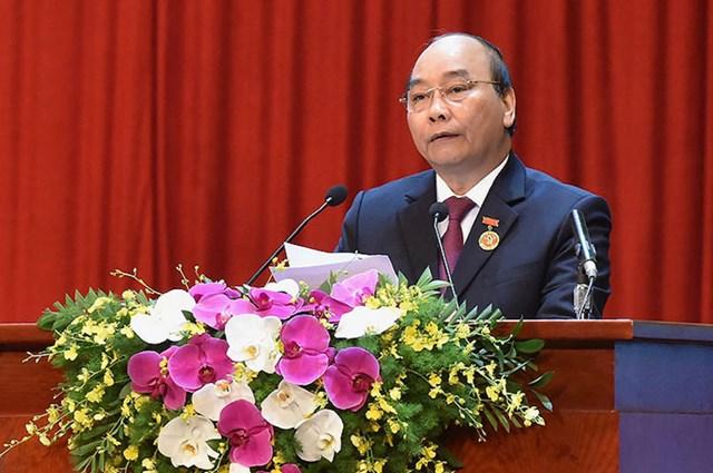 Thủ tướng Nguyễn Xuân Phúc phát động phong trào thi đua yêu nước giai đoạn 2021-2025. Ảnh: Quang Vinh.