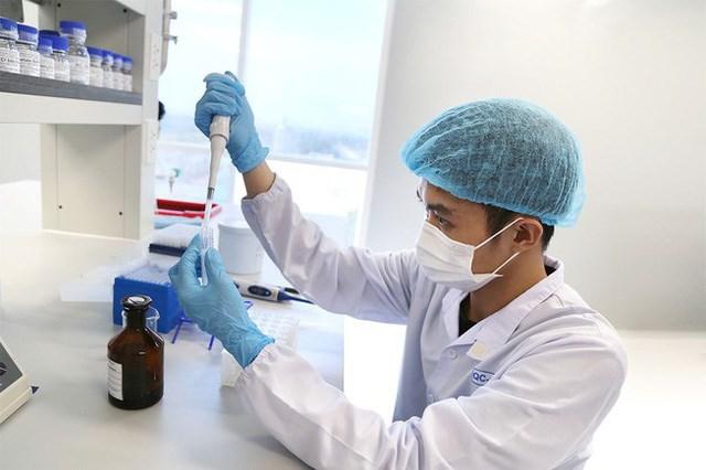 Nghiên cứu sản xuất vaccine ngừa Covid-19 tại Công ty cổ phần Công nghệ dược Nanogen (Khu công nghệ cao TP HCM). Nguồn:GiadinhNet.