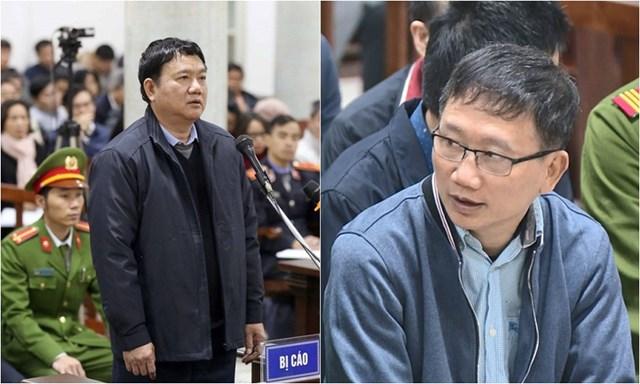 Bị cáo Đinh La Thăng và Trịnh Xuân Thanh.
