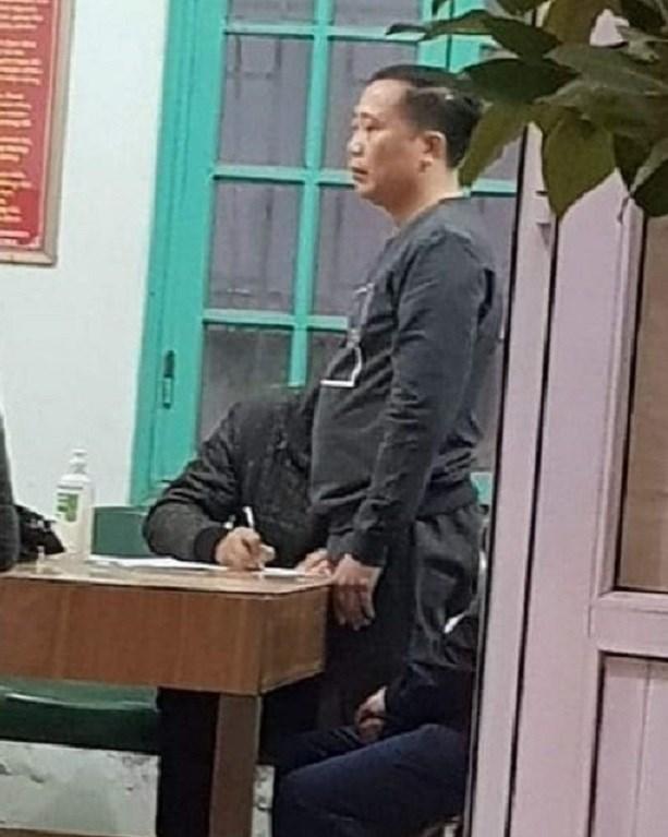Đối tượng Nguyễn Văn Bình tại cơ quan Công an.