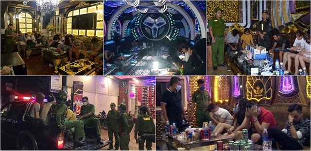 Lực lượng Công an đã phát hiện, bắt giữ nhiều nhóm đối tượng liên quan đến sử dụng trái phép chất ma túy tại các phòng hát karaoke.