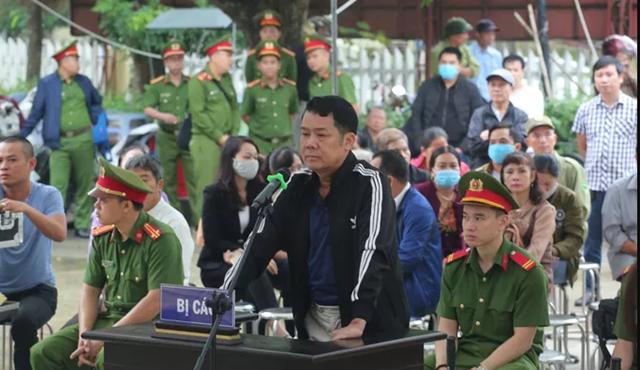 Bị cáo Nguyễn Văn Sướng tại phiên tòa