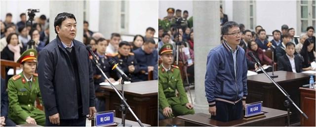 Bị can Đinh La Thăng Và Trịnh Xuân Thanh tại một phiên tòa trước đó.