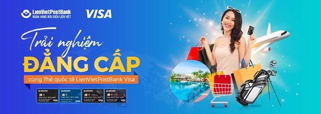Ra mới thẻ quốc tế LienVietPostBank Visa - Ảnh 1