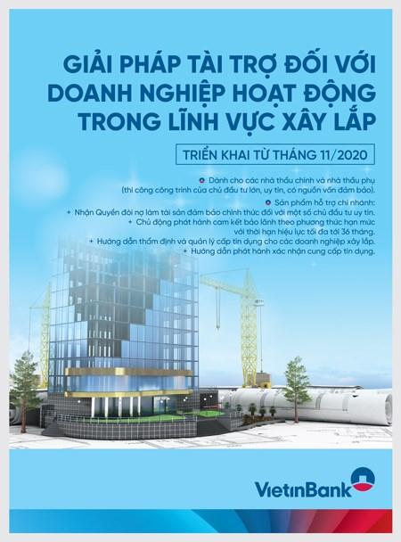 VietinBank tài trợ vốn ưu đãi cho doanh nghiệp xây lắp