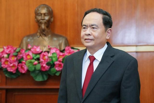 Ủy viên Bộ Chính trị, Chủ tịch Ủy ban Trung ương MTTQ Việt Nam Trần Thanh Mẫn.