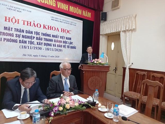 Phó Chủ tịch UBTƯ MTTQ Việt Nam Nguyễn Hữu Dũng tại hội thảo.