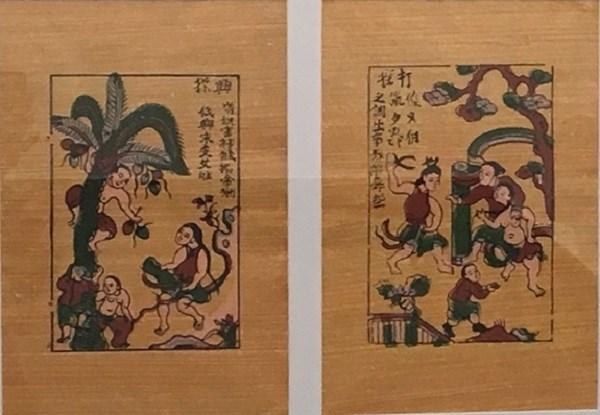Hai bức tranh dân gian Đông Hồ
