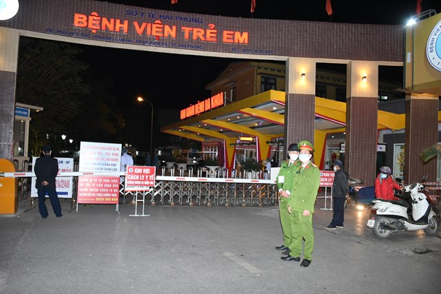 Bệnh viện trẻ em Hải Phòng thực hiện phong tỏa từ tối ngày 28/1.
