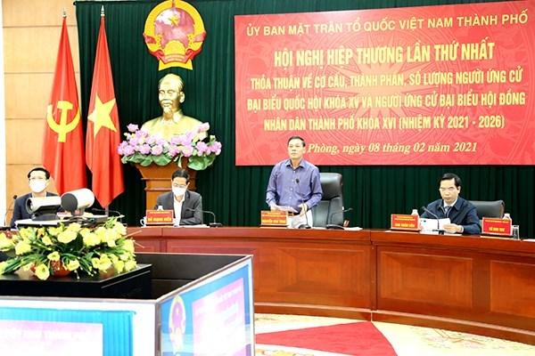 MTTQ TP Hải Phòng tổ chức hiệp thương bầu cử đại biểu Quốc hội, HĐND TP nhiệm kỳ 2021 – 2026  lần thứ Nhất.