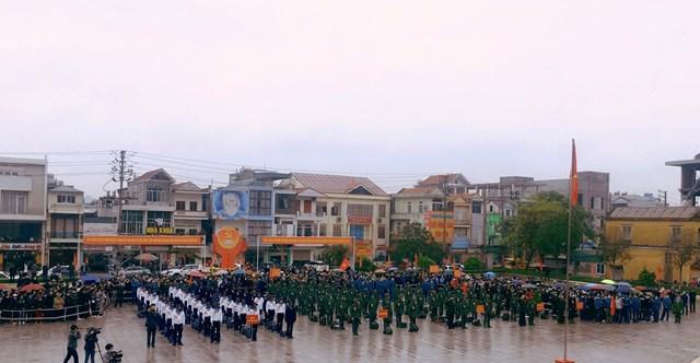 Ngày hội tòng quân ở huyện Vân Đồn được tổ chức tại