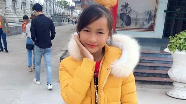 Nữ sinh Nguyễn Thị Mỹ Dung trước khi bỏ nhà đi.