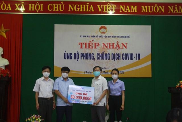 Công ty CP Dệt may Huế ủng hộ 50 triệu đồng phòng chống dịch Covid-19.