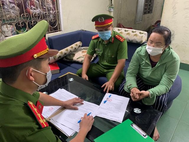 Đối tượng Nguyễn Thị Thu. Ảnh: Công an cung cấp.