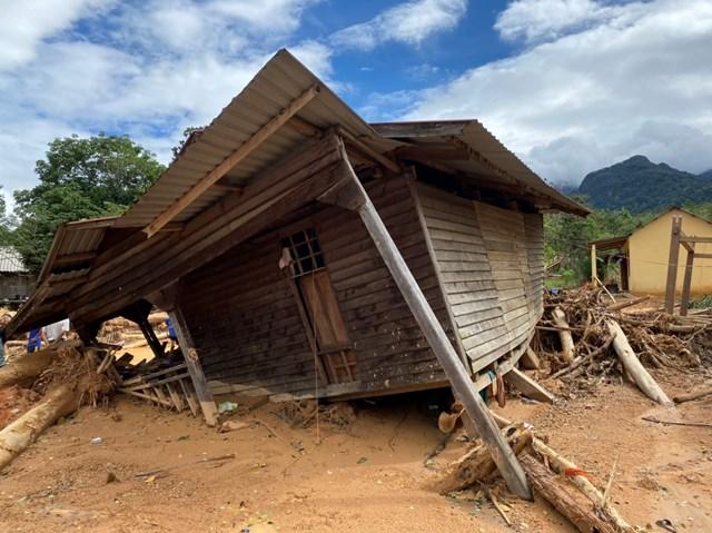 Huyện Hướng Hóa đã di dời nhiều hộ dân ở vùng có nguy cơ sạt lở đất cao đến nới an toàn.