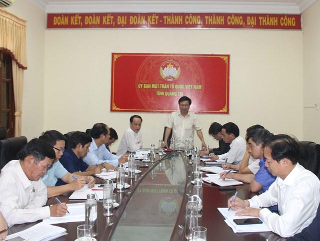 Ủy ban MTTQ Việt Nam tỉnh Quảng Trị họp bàn phương án hỗ trợ người dân bị ảnh hưởng bởi bão lũ thời gian qua.