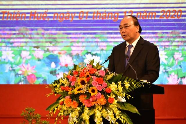 Thủ tướng Nguyễn Xuân Phúc phát biểu tại Lễ kỷ niệm 100 năm Ngày sinh của nguyên Chủ tịch nước, Đại tướng Lê Đức Anh.