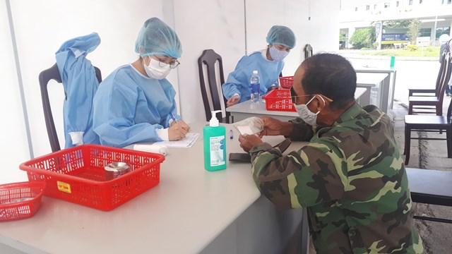 Sàng lọc y tế tại Bệnh viện Trung ương Huế.