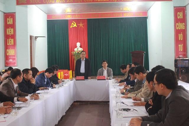 Chủ tịch UBTƯ MTTQ Việt Nam Trần Thanh Mẫn phát biểu chỉ đạo tại buổi làm việc với lãnh đạo tỉnh Quảng Trị.