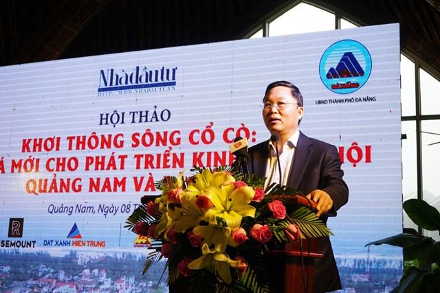 Ông Lê Trí Thanh, Chủ tịch UBND tỉnh Quảng Nam phát biểu tại hội thảo.
