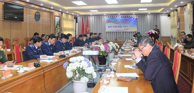 Quang cảnh gặp mặt báo chí khu vực miền Trung.