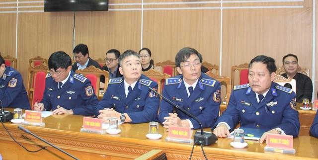 Các đại biểu tham dự buổi gặp mặt báo chí đầu năm 2021.