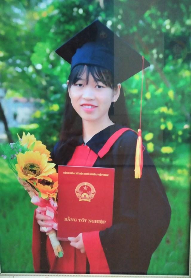 Em Nguyễn Thị Thanh Xuân vui khi biết mình được trúng tuyển quân sự năm 2021.