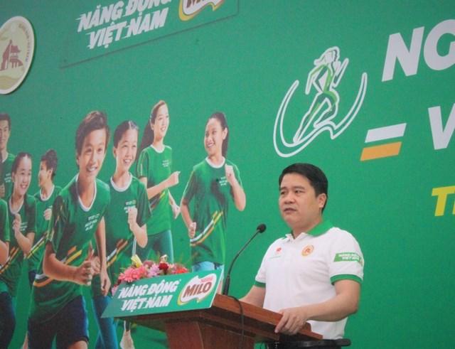 Ông Trần Văn Tân, Phó Chủ tịch UBND tỉnh Quảng Nam phát biểu phát động.