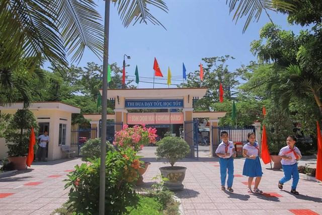 Một góc khu viên Trường TH Trần Quốc Toản, TP Tam Kỳ.