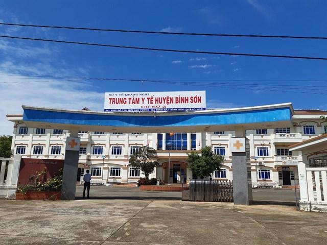 Cơ sở 2, Trung tâm Y tế huyện Bình Sơn nơi cách ly, điều trị SARS-CoV-2.