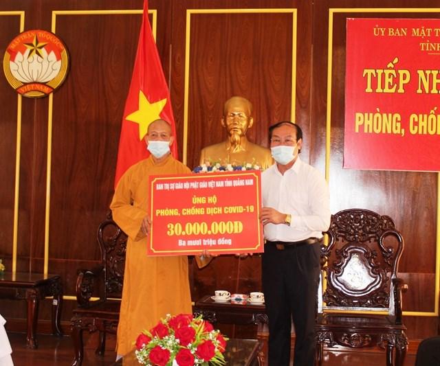 Ban trị sự GHPT tỉnh Quảng Nam ủng hộ Quỹ vaccine