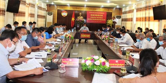 Quang cảnh hội nghị Đề án SXDC vùng miền núi tỉnh Quảng Nam.