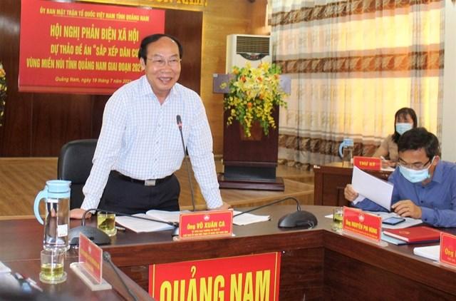 Ông Võ Xuân Ca, Chủ tịch Ủy ban MTTQ Việt Nam phát biểu kết luận hội nghị.