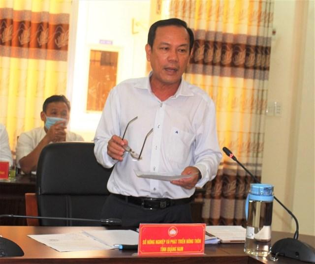 Ông Ngô Tấn, Phó Giám đốc Sở NN&PTNT tỉnh Quảng Nam phát biểu tại hội nghị.