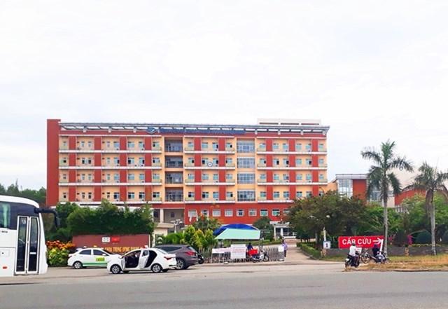 BVĐK Trung ương Quảng Nam nơi có ca nhiễm SARS-CoV-2.