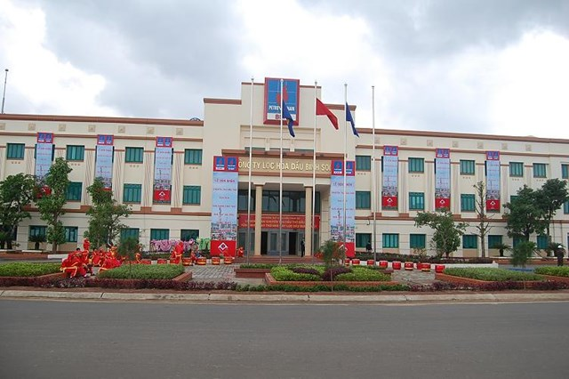 Trụ sở Công ty CP lọc hóa dầu Bình Sơn.