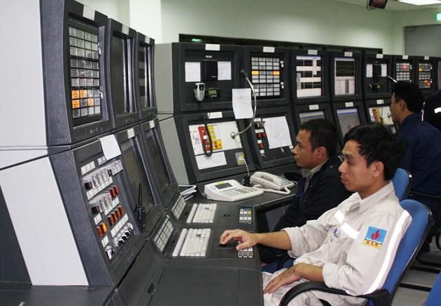 Một góc điều hành Nhà máy lọc dầu Dung Quất.