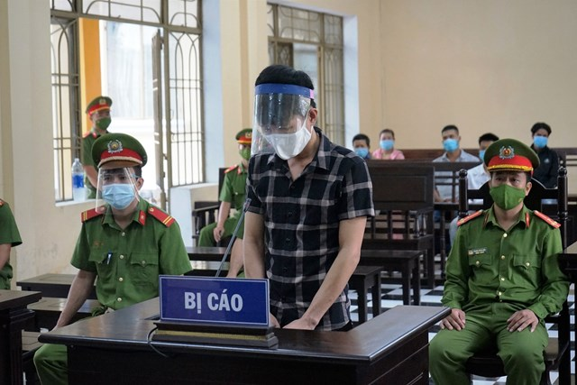 Bị cáo Trần Văn Hộp tại TAND tỉnh Quảng Nam.